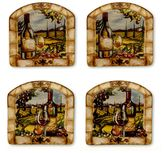 Certified International Tuscan View 4-pc. Square Canape Plate Set