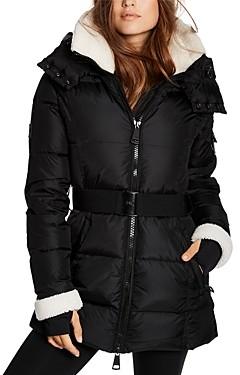 SAM. Courtney Shearling Trim Hooded Puffer Coat