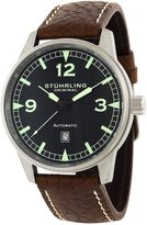 Stuhrling Original Men's 129A.33152 Tuskegee Flier Sportsman's Collection Automatic Black Dial Watch