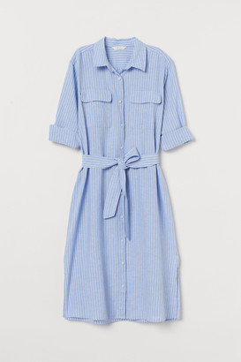H&M Linen-blend Shirt Dress