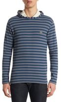 Lacoste Striped Hooded T-Shirt