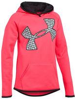 Under Armour Girls 7-16 Fleece Jumbo Logo Hoodie