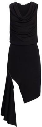 Alice + Olivia Hollis Cowlneck Zip Hem Dress