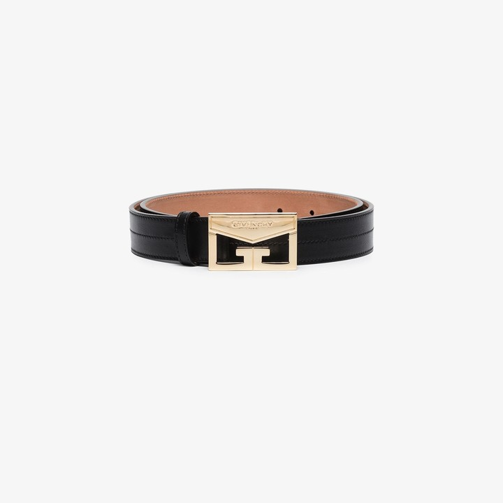 Givenchy Black Mystic leather belt
