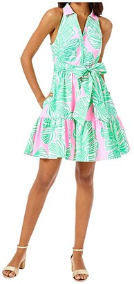Lilly Pulitzer Trisha Stretch Shirtdress (Mandevilla Baby Who Let The Fronds Out) Women's Dress