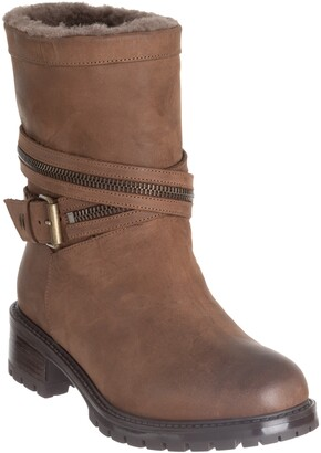 Ross & Snow Cristiana Genuine Shearling Lined Moto Boot