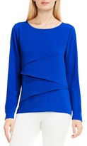 Vince Camuto Women's Asymmetrical Tiered Blouse