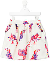 MSGM animal print skirt - kids - Cotton/Polyester - 4 yrs