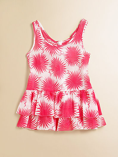 Milly Minis Toddler's & Little Girl's Reese Ruffled Coverup