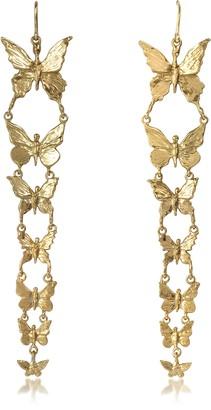 Bernard Delettrez Butterflies Bronze Earrings