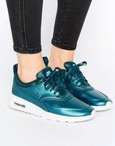 Nike Thea Sneakers In Metallic Teal Blue
