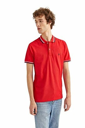 Springfield Men's 5ba BSC Slim Tipping Org-c/61 Polo Shirt