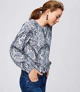 LOFT Paisley Blouson Sweatshirt