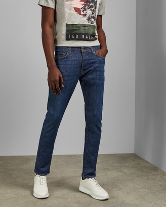 Ted Baker Mid Wash Tapered Jeans
