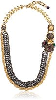 """m. haskell Purple by Garden Party"""" Floral Mixed Chain Necklace, 24"""""""