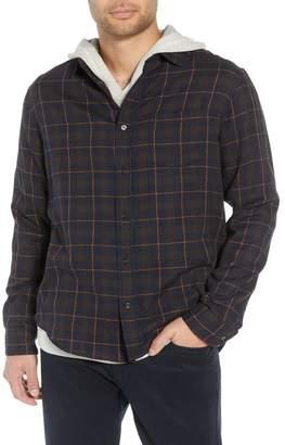 Vince Slim Fit Plaid Double Knit Sport Shirt