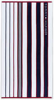 Tommy Hilfiger Blue & Red Striped Beach Towel