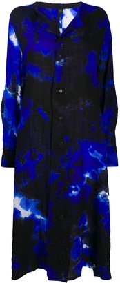 Y's Abstract Print Shirt Dress