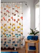 Bed Bath U0026 Beyond Embossed New School Fish PEVA Shower Curtain