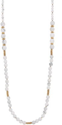 Anna Beck 18K Gold Plated Sterling Silver White Howlite Beaded Necklace