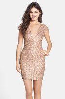 Dress the Population Women's Sequin Body-Con Dress