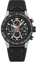 Tag Heuer Carrera Stainless Steel and Rubber Strap Watch, CAR2A1ZFT604