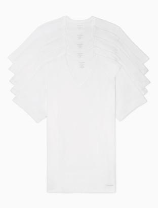 Cotton Classic Slim Fit 5-Pack V-Neck T-Shirt