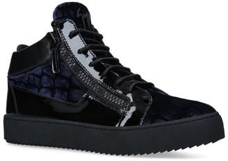 Giuseppe Zanotti Croc Print High-Top Kriss Sneakers