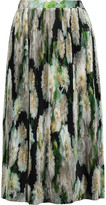 ADAM by Adam Lippes Pleated printed satin skirt