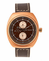 Ted Baker 10018735 Rose Gold-Tone & Brown Watch