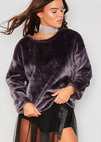 Missy Empire Bryony Grey Faux Fur Jumper