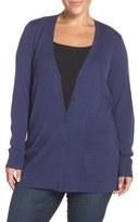 Sejour Plus Size Women's Ribbed V-Neck Cardigan