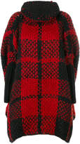 Woolrich checked cape