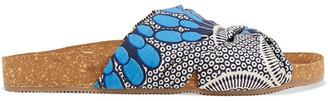 Figue Suki Printed Cotton-canvas Slides - Blue