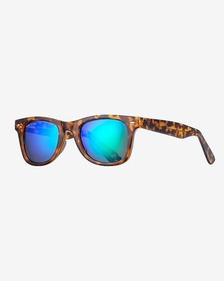 Express Blue Planet Eco-Eyewear Wallace Square Polarized Sunglasses