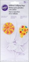 Wilton Drawstring Lollipop Bags, 4.5 by 5.5-Inch, Clear, 15-Pack