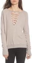 Pam & Gela Women's Cross Neck Sweatshirt