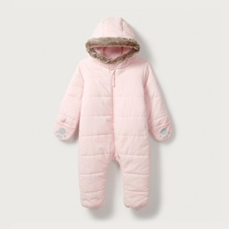 The White Company Quilted Pram Suit, Pink, 0-3mths