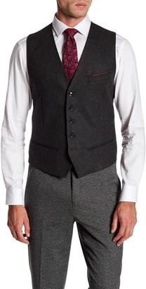 Ted Baker Trim Fit Printed Back Vest