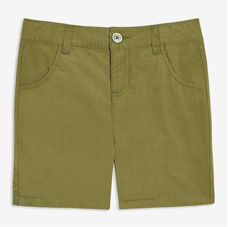 Joe Fresh Kid Girls' Bermuda Shorts, Olive (Size 7)