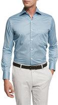 Peter Millar Pandora's Box Cotton Sport Shirt, Light Blue