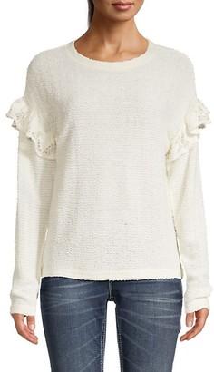 Miss Me Lace-Trim Sweater