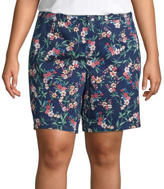 ST. JOHN'S BAY Womens Chino Short-Plus