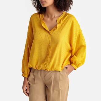 La Redoute Collections Elasticated Hem Puff Sleeve Blouse