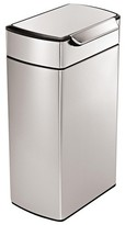 Simplehuman 40 Liter Rectangular Touch-Bar Trash Can in Fingerprint-Proof Brushed Stainless Steel
