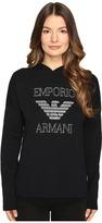 Emporio Armani Visibility Maxy Logo Sweatrer w/ Hood Women's Sweater