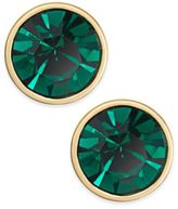 Kate Spade Gold-Tone Green Crystal Stud Earrings