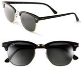 Ray-Ban Women's 'Clubmaster' 49Mm Sunglasses - Black/ Gold