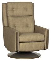Oasis Loft Manual Swivel Recliner Fairfield Chair Fabric Olefin Blend, Leg Color: Almond Buff