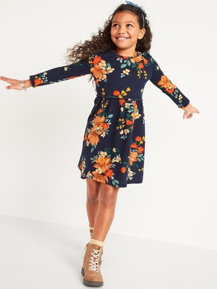 Old Navy Fit & Flare Long-Sleeve Jersey Dress for Girls